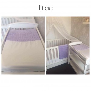 Lilac Change Mat Cover and Blanket Set