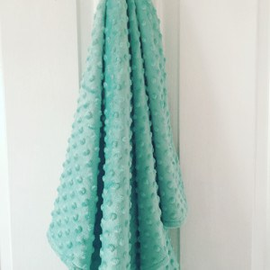 Mint Green Minky Blanket