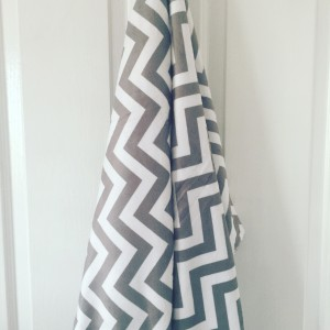 Chevron Steel Grey Minky Blanket