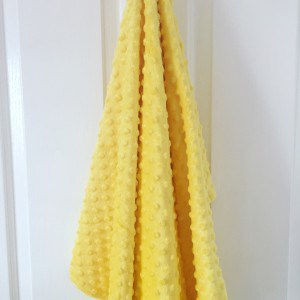 Sunshine Yellow Minky Blanket