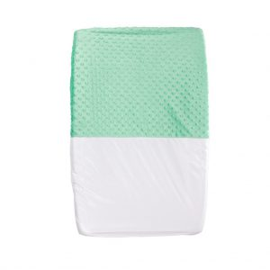 Mint green baby change mat cover
