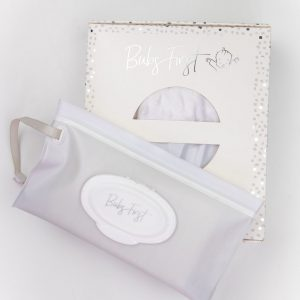 Baby essentials wipes case - perfect for nappy changes and travel!